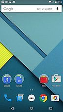 Android 5.0 home screen