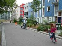 'Carfree' residential streets in Vauban