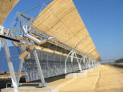 Parabolic troughs in concentrating solar power plant
