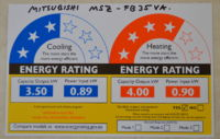 MSZ-FB35VA energy rating