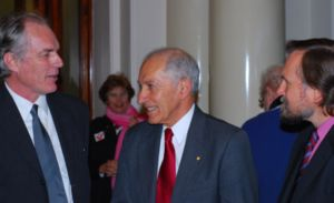 David Spratt, Governor David de Kretser and Philip Sutton