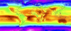 Colour-coded world map produced by NASA showing where solar energy has maximum effect. Photo: Reuters